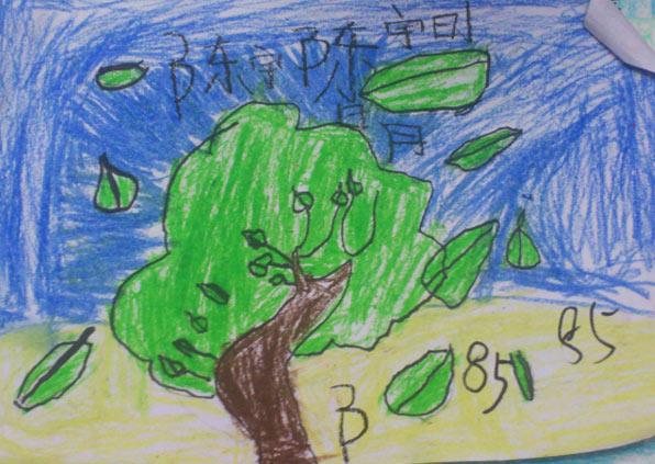 大树-蜡笔画图集11