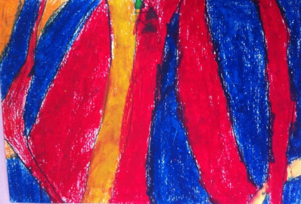 大树-蜡笔画图集19