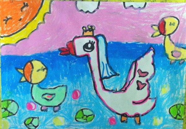 大白鹅-蜡笔画图集