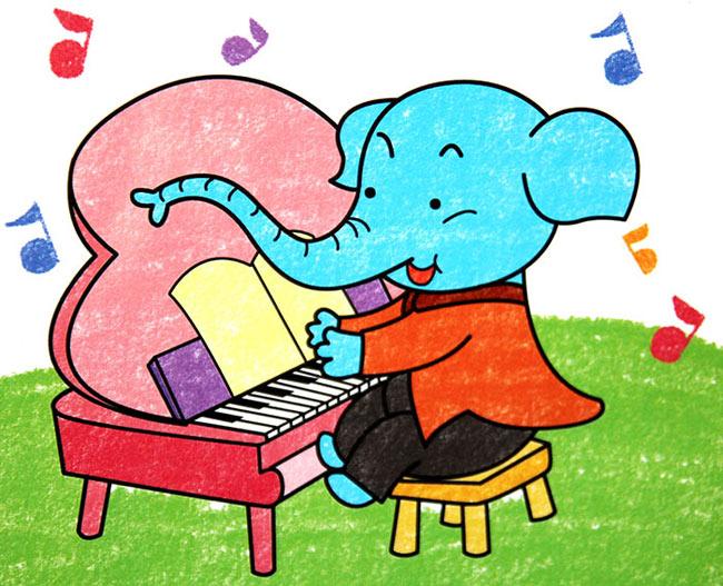 大象-蜡笔画图集6