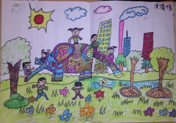 大象-蜡笔画图集12
