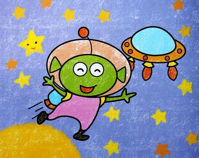 太空-蜡笔画图集
