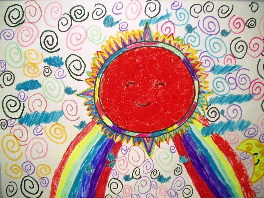 太阳-蜡笔画图集4