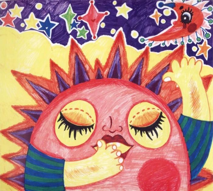 太阳-蜡笔画图集9