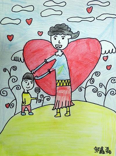 妈妈-蜡笔画图集13