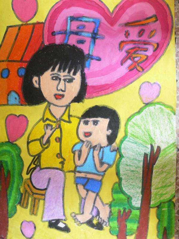 妈妈-蜡笔画图集18