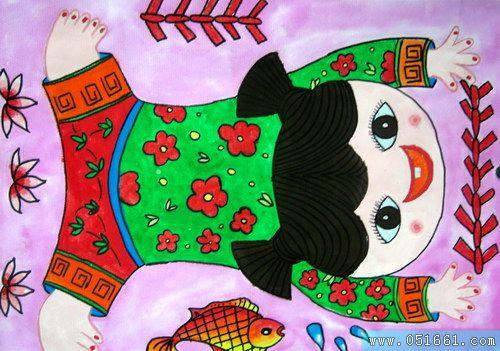 娃娃-蜡笔画图集