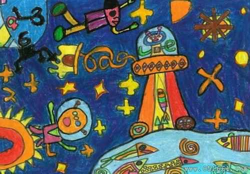 宇宙-蜡笔画图集2