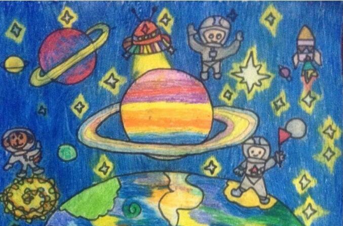 宇宙-蜡笔画图集3