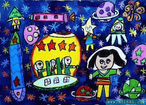 宇宙-蜡笔画图集4