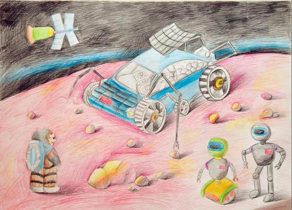 宇宙-蜡笔画图集6
