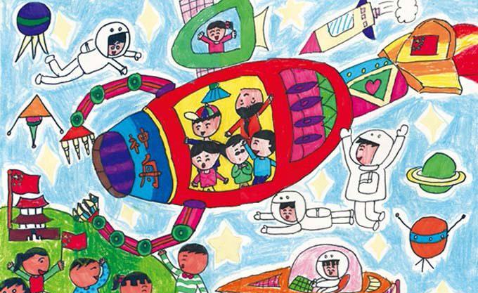 宇宙-蜡笔画图集7