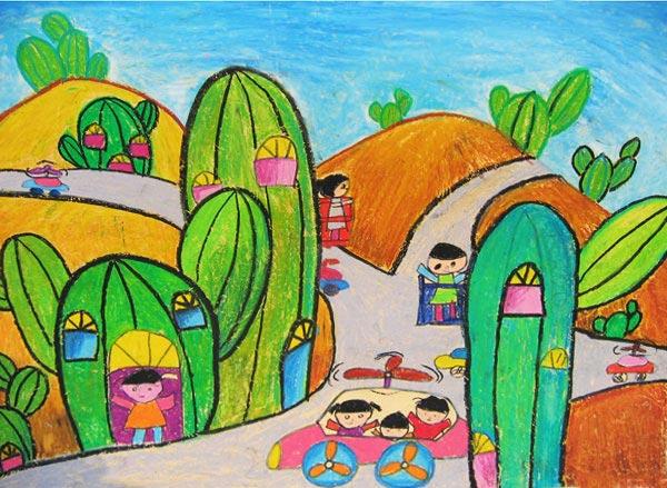 家园-蜡笔画图集