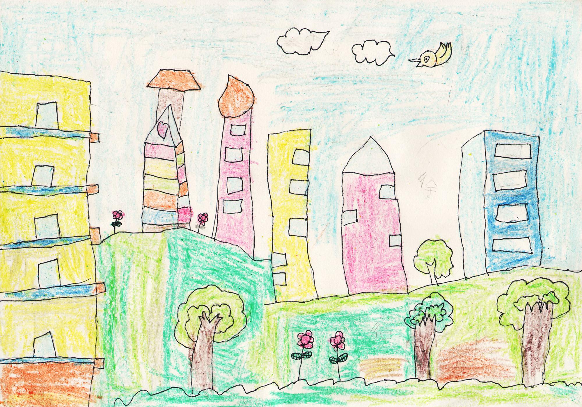 家园-蜡笔画图集3