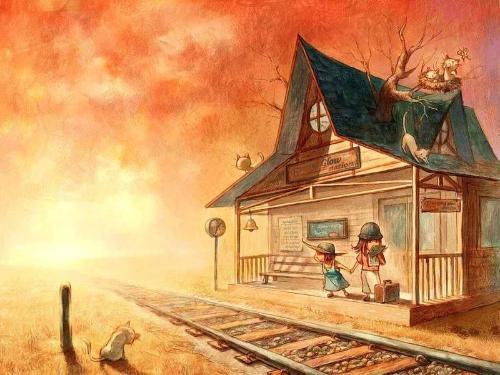 家园-蜡笔画图集4