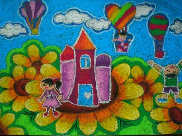 家园-蜡笔画图集5
