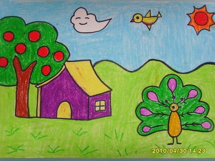 家园-蜡笔画图集7