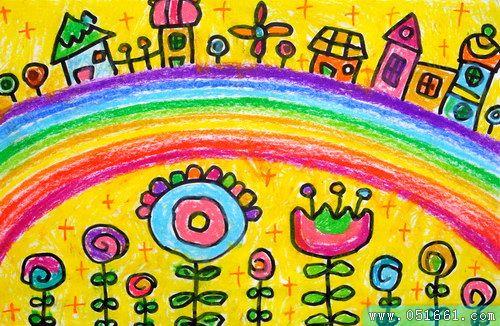 家园-蜡笔画图集8