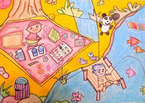 家园-蜡笔画图集9