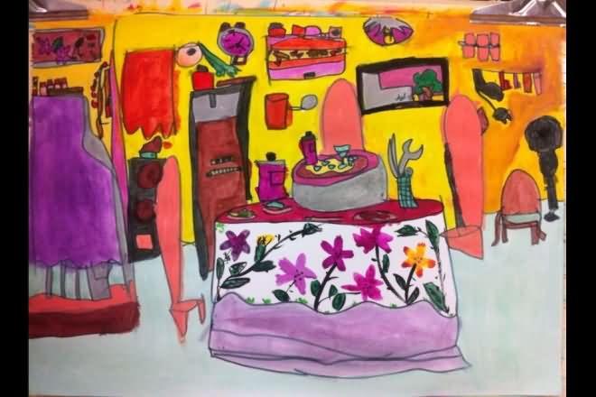 家园-蜡笔画图集11