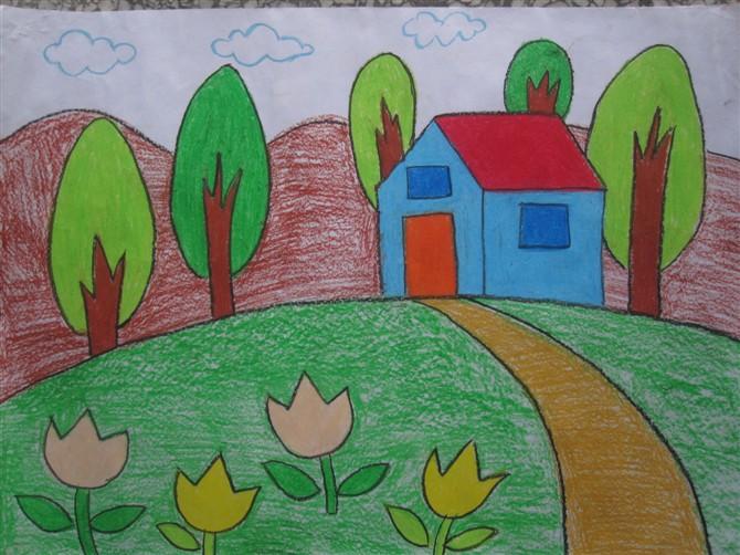 家园 蜡笔画图集图片 儿童蜡笔画 少儿图库