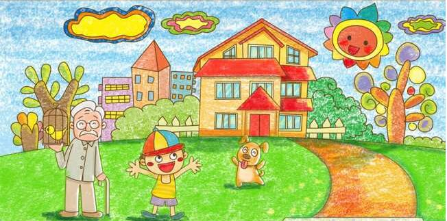 家园-蜡笔画图集14