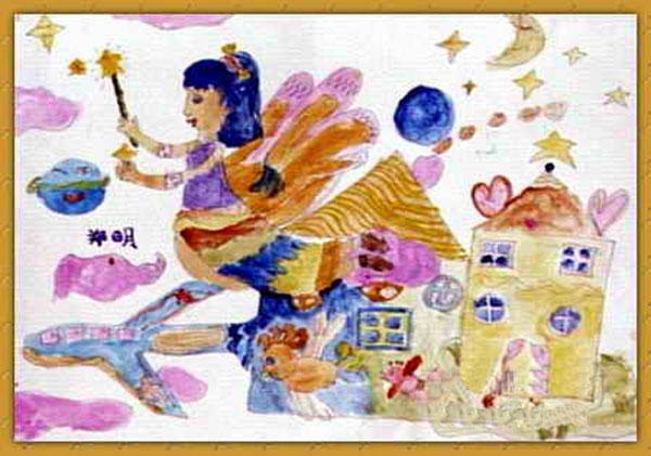 小仙女-蜡笔画图集