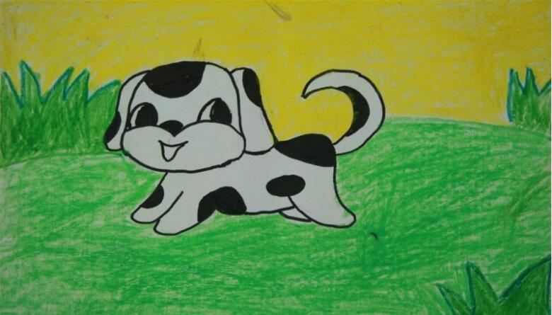 小狗-蜡笔画图集7