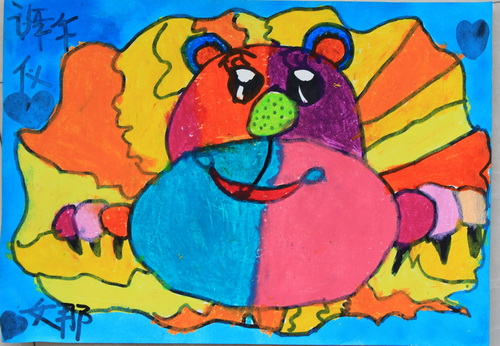 小狮子-蜡笔画图集