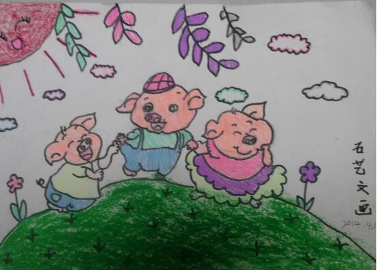 小猪-蜡笔画图集