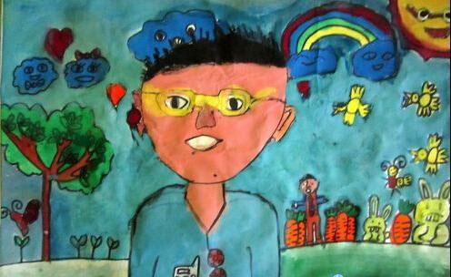 小男孩-蜡笔画图集