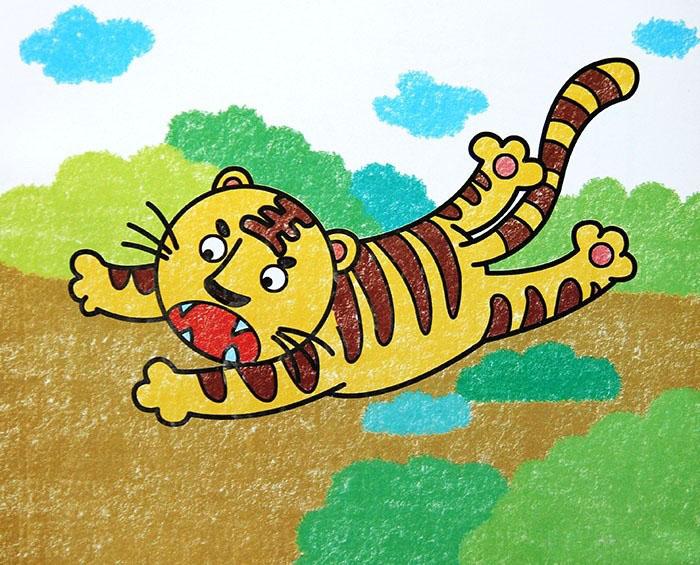 小老虎-蜡笔画图集