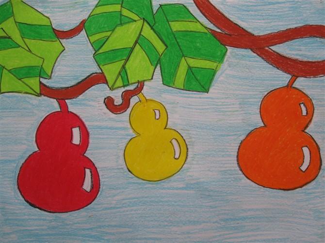 小葫芦-蜡笔画图集