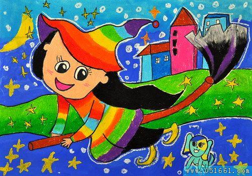小魔女-蜡笔画图集