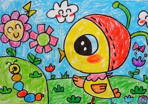 小鸡-蜡笔画图集20