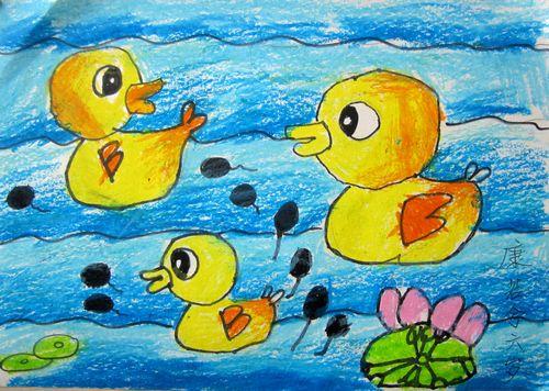 小鸭子-蜡笔画图集2