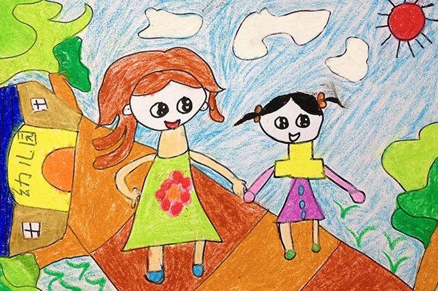 幼儿园-蜡笔画图集