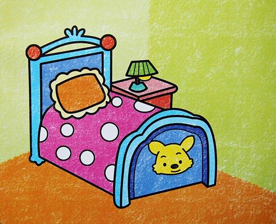 床-蜡笔画图集