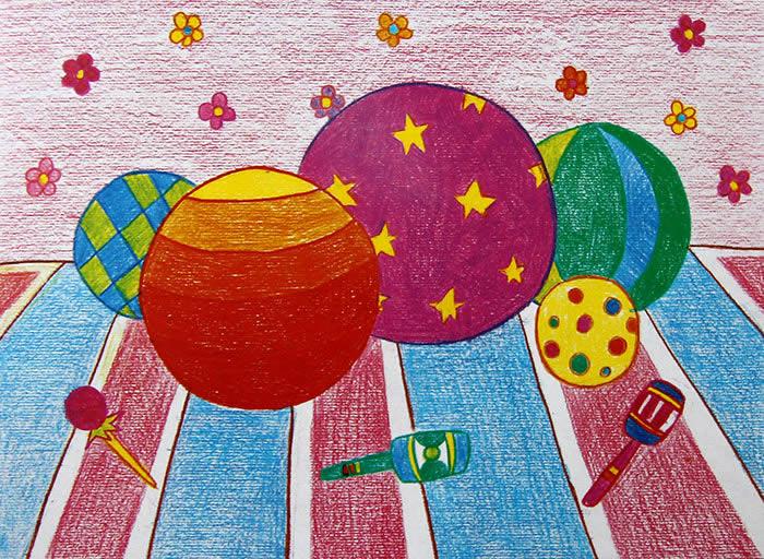 彩球-蜡笔画图集
