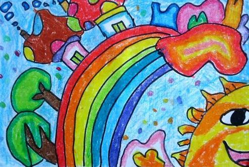 彩虹-蜡笔画图集2