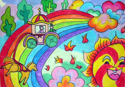 彩虹-蜡笔画图集3