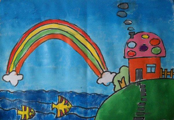 彩虹-蜡笔画图集5