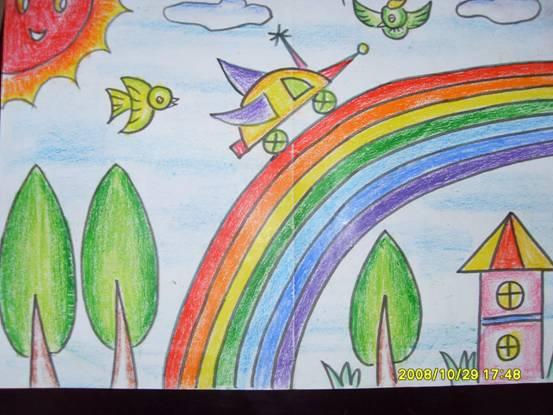 彩虹-蜡笔画图集7