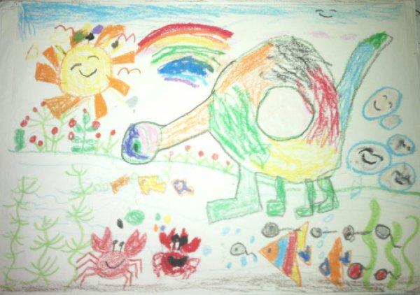 恐龙-蜡笔画图集6