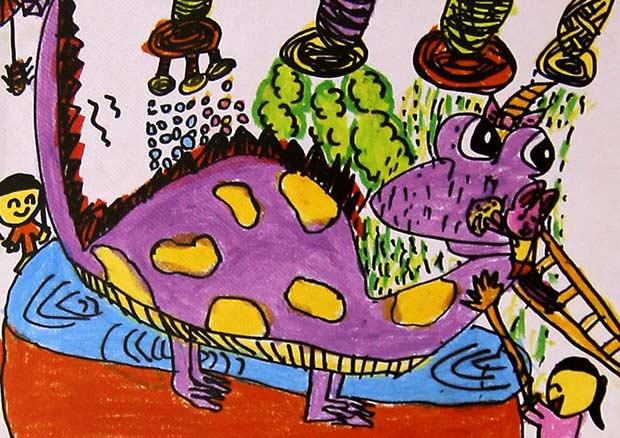 恐龙-蜡笔画图集7