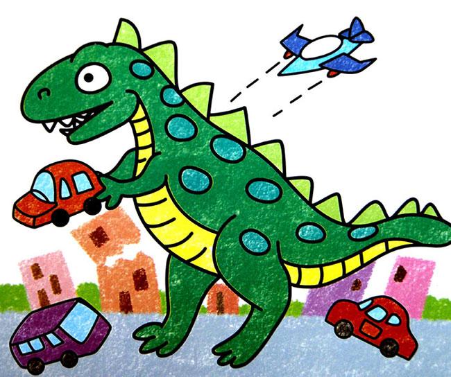 恐龙-蜡笔画图集8
