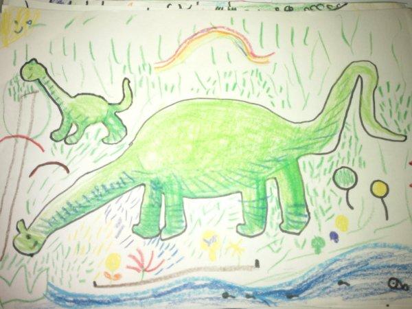 恐龙-蜡笔画图集9
