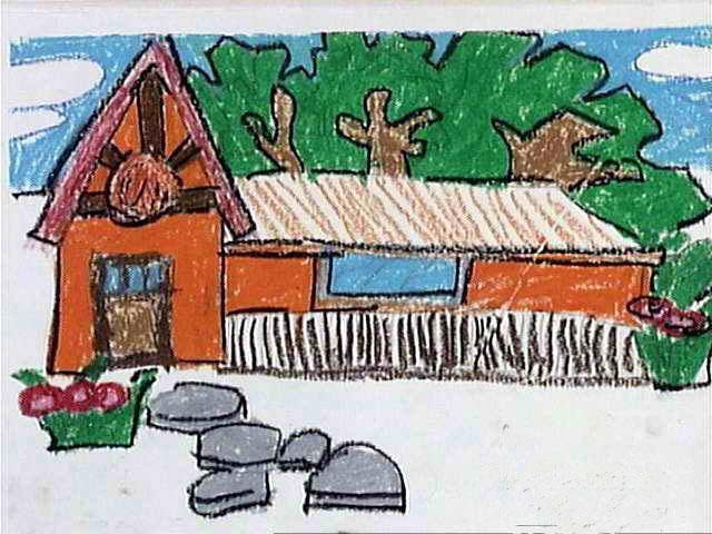 房子-蜡笔画图集3