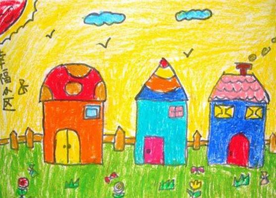 房子-蜡笔画图集5