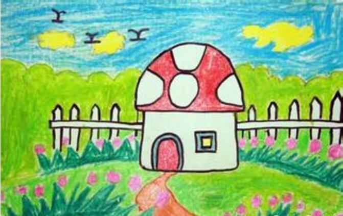 房子-蜡笔画图集7